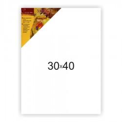 Холст на подрамнике Сонет 100% хлопок, крупное зерно, 30x40