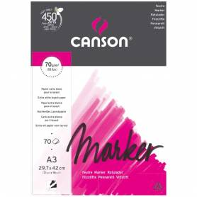 Альбом для маркеров Canson Marker Layout, А3, 70 г/м2, 70л.