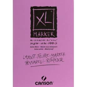 Альбом для маркеров Canson XL, А4, 70 г/м2, 100л.