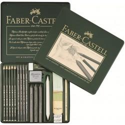 Набор для графики Faber-Castell Pitt Monochrome, 18 предметов
