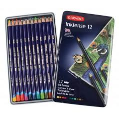 Чернильные карандаши Derwent Inktense, 12 шт., металл