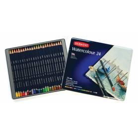 Акварельные карандаши Derwent Watercolour, 24 шт., металл