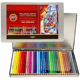 Цветные карандаши Koh-i-noor Polycolor, 36 шт., металл