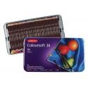 Набор цветных карандашей COLOURSOFT, 36 цв., металл