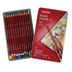 Пастельные карандаши Derwent Pastel, 12 шт., металл