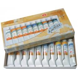 Набор художественных масляных красок Ладога, 10 туб по 46 мл.