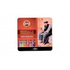 Набор акварельных карандашей Mondeluz, 48 цветов, металл