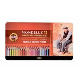 Набор акварельных карандашей Mondeluz, 72 цвета, металл