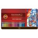 Набор цветных карандашей Koh-i-noor Polycolor, 72 цвета, металлическая коробка