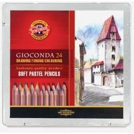 Набор пастельных карандашей Gioconda, 24 цвета, металл