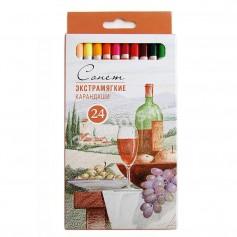 Экстрамягкие карандаши Сонет, 24 цвета