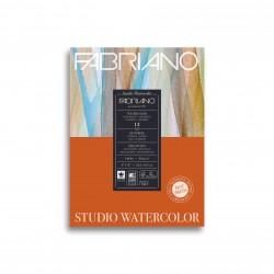 Альбом для акварели Fabriano Watercolour Studio Сатин 22.9x30.5 см., 12 л., 300 г/м2, склейка по короткой стороне