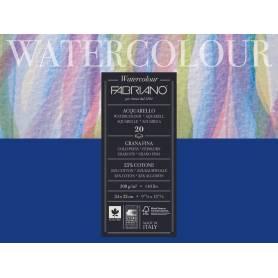 Блок для акварели Fabriano Watercolour Studio Фин 24x32 см., 20 л., 300 г/м2, склейка по 4 сторонам