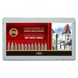 Набор пастельных карандашей Gioconda, 12 цветов, металлическая упаковка