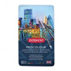 Набор цветных карандашей Derwent Procolour, 12 цветов, металлическая упаковка