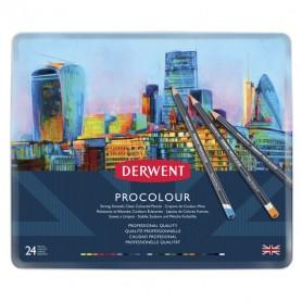 Набор цветных карандашей Derwent Procolour, 24 цвета, металлическая упаковка
