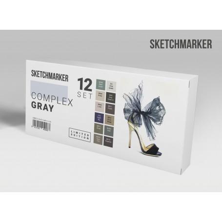 Набор маркеров SKETCHMARKER Complex gray 12 set - Сложные серые тона