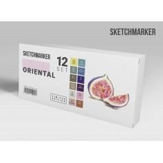 Лимитированный набор маркеров Sketchmarker Восточный набор, 12 цветов