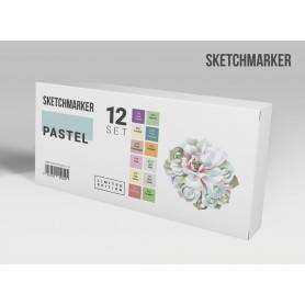Набор маркеров SKETCHMARKER Pastel 12 set - Пастельные оттенки