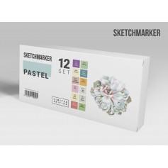 Лимитированный набор маркеров Sketchmarker Пастельные оттенки, 12 цветов
