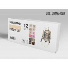 Лимитированный набор маркеров Sketchmarker Оттенки кожи, 12 цветов