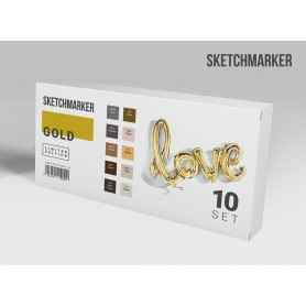 Набор маркеров SKETCHMARKER Gold 10 Set - Золото