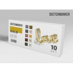 Набор маркеров SKETCHMARKER Gold 10 Set - Золото