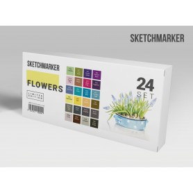 Набор маркеров SKETCHMARKER Flowers 24 set - Цветы