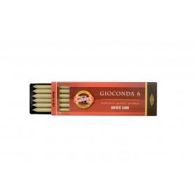 Набор стержней для цанговых карандашей Koh-i-noor Gioconda, золото, 5.6 мм., 6 шт.