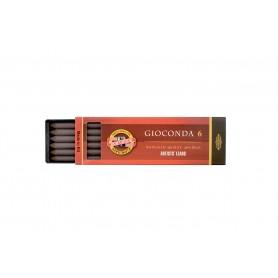 Набор стержней Koh-i-noor Gioconda, сепия темно-коричневая, 5.6 мм., 6 шт.