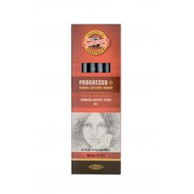 Набор чернографитных карандашей Progresso, 6 шт., картонная упаковка