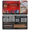 Художественный набор Koh-i-Noor Gioconda Art Set для графики, 39 предметов, металлическая упаковка