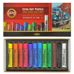 """Набор сухой экстра-мягкой пастели """"Toison d'or"""" Extra-Soft, 12 цветов"""