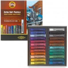 """Набор сухой экстра-мягкой пастели """"Toison d'or"""" Extra-Soft, 24 цвета"""