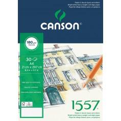 Альбом для графики Canson 1557, 21х29.7 см., 180 г/м2, 30 л., склейка по короткой стороне