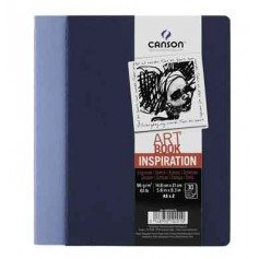 Блокнот Canson Inspiration Art Book, 21х29.7 см., 96 г/м2, 36л, 2 шт. (индиго/лаванда)