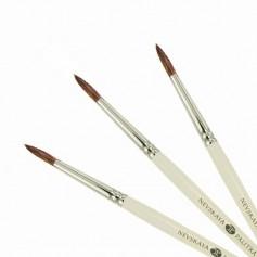 Кисти круглые из колонка с короткой ручкой Невская Палитра
