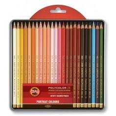 """Цветные карандаши Koh-i-noor Polycolor """"Портрет"""", 24 шт., металл"""