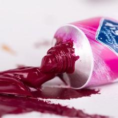 Масляная краска фиолетово-розовый хинакридон Мастер-класс, туба 46 мл.