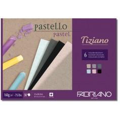 Альбом для пастели Fabriano Tiziano 160г/м.кв 21x29,7 см., 30 л, , 160 г/м2, темные цвета, склейка по одной стороне