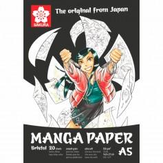 Блокнот для рисования Sakura Manga, 14,8x21 см., 20л, 250 гр/м