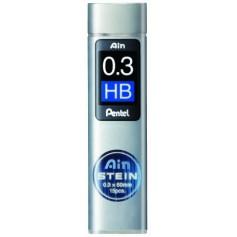 Грифели для механических карандашей Pentel AIN STEIN, HB, 0,3 мм., 15 шт.