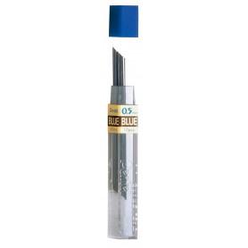 Грифели для механических карандашей синего цвета Pentel, 0,5 мм., 12 шт.