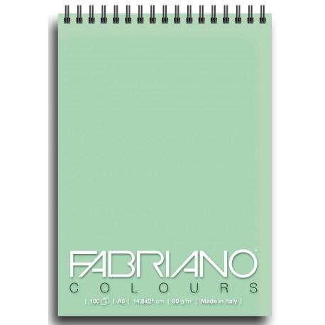 Блокнот для зарисовок Fabriano Colours 14,8x21 см., 100 л., 80 г/м2., Аквамарин