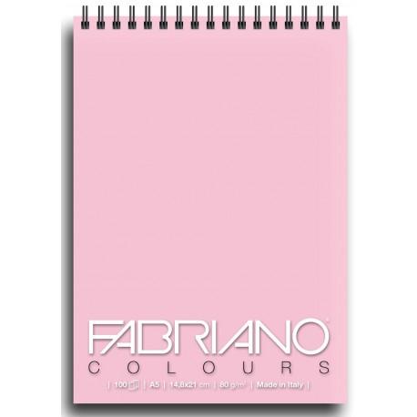 Блокнот для зарисовок Fabriano Colours 14,8x21 см., 100 л., 80 г/м2., Розовый