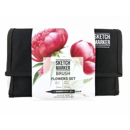 Набор маркеров SKETCHMARKER BRUSH 24 Flowers Set - Цветы