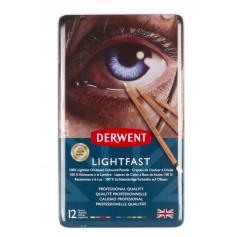 Набор цветных карандашей Derwent Lightfast, 12 цветов, металл