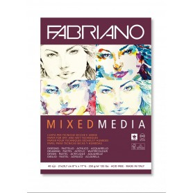 Альбом для смешанных техник Fabriano Mixed Media, 21x29,7 см., 40 л., 250 г/м2.