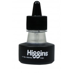 Чернила индиго Higgins Indigo Dye-Based, 1 OZ (29,6 мл.)