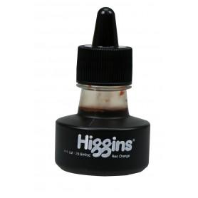 Чернила красно-оранжевые Higgins Red Orange Dye-Based, 1 OZ (29,6 мл.)